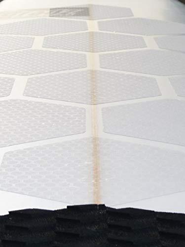RSPro Hexa Traction Anti Rutsch Surfboard Front Grip Traction Pad 20 PCS, Clear, Größe 16cm, mit Schablone, Zuverlässiger Halt auf dem Surfbrett