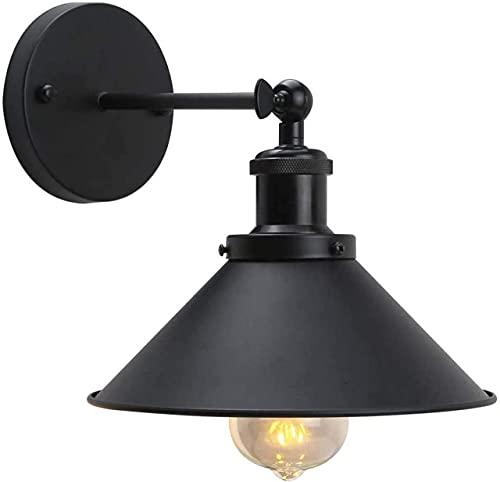 MIAOLIANG Luz Moderna, luz de Pared Industrial Pantalla de lámpara de Pared de Metal Ajustable Apliques de Pared Interiores Iluminación Lámpara de Pared Accesorio Decoración Sala de Estar E27