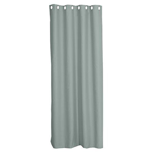 Levivo Blickdichte Thermo-Gardine / Verdunkelungsvorhang mit Metall-Ösen, Thermovorhang, Vorhang, ca. 245 x 135 cm, Grün