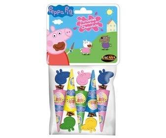 Lacasa - Parasoles - Paraguas de Chocolate de Pepa Pig - Regalo Ideal para Niños y Niñas- 50 Gramos