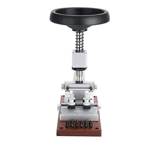 IDWT Abridor de Cajas de Reloj de Banco, Acero y Aluminio de 65 mm, removedor de Caja de Reloj con Apertura máxima de Mandril, Trabajadores de reparación de Relojes para relojeros