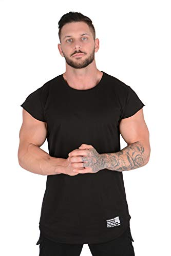YoungLA Workout Shirts for Men | Fitness Muscle Tees | Weightlifting Gym Bodybuilding Tshirts 409 BK S Black