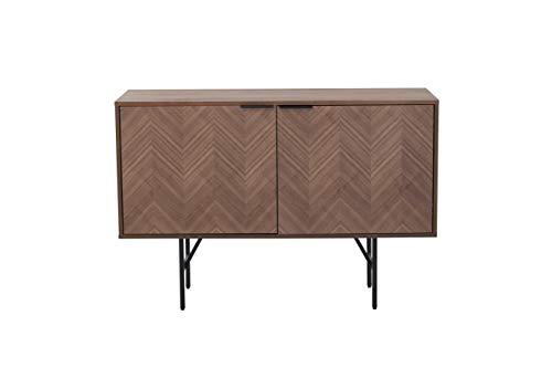 Amazon Marke - Rivet Sideboard, 120 x 40 x 80cm, Nussbaum