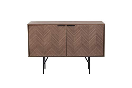 Amazon Marke - Rivet Sideboard, 120 x 40 x 80 cm, Nussbaum