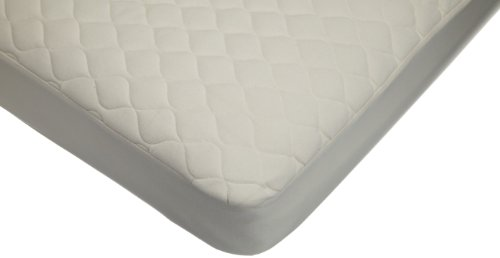 American Baby Company Waterproof Quilted CribandToddlerSize Fitted Mattress Cover made with Organic Cotton Top Layer, Natural Color