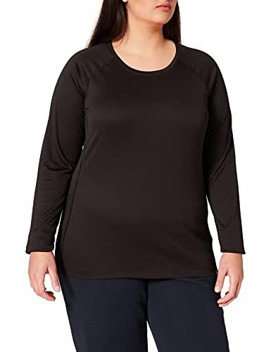 Patagonia W's Cap MW Crew T-Shirt à Manches Longues Femme, Noir, XL