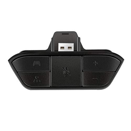 Adaptateur pour casque, manette noire pour Xbox One, adaptateur casque de jeu stéréo pour contrôler le volume, réglage de la balance de jeu/chat, apparence élégante, adaptateur audio