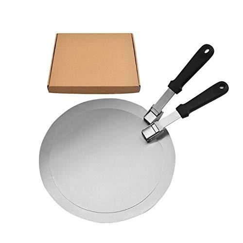 Yoshotech Palos de madera para pizza con mango plegable de madera de roble, fácil almacenamiento, pala grande para hornear pizzas caseras y amantes del pan 10