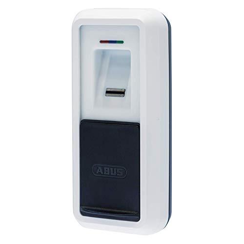 ABUS HomeTec Pro Bluetooth-Fingerscanner CFS3100 - zum Öffnen der Haustür - mit Verdeck - für den HomeTec Pro Bluetooth-Türschlossantrieb CFA3100 - Weiß