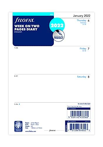 Filofax 2022 - Agenda settimanale 2022, formato A5, 22-68522