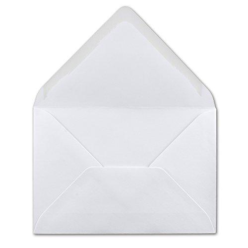 50 DIN B6 Briefumschläge weiß - 12 x 18 cm - 120 g/m² Nassklebung - ideal für Weihnachten Grußkarten Einladungen von Ihrem Glüxx-Agent
