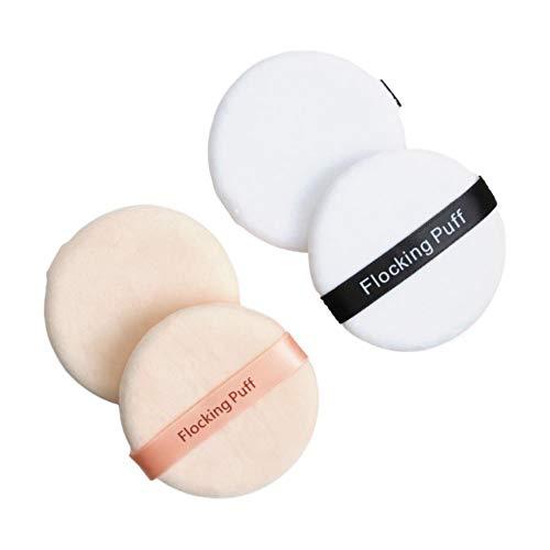 Kentop Éponge Houpettes pour Poudre de Maquillage/Crème Cosmétique/Fond de Teint/Estompeur Correcteur, Douces pour Peau et Visage, Ensemble de 10