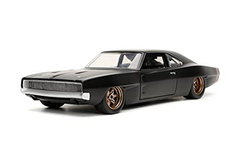 Jada Toys 253203075 Fast & Furious 1968 Dodge Charger 1:24, schwarz