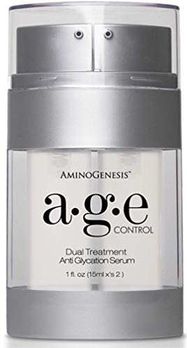 AGE Control Dual Treatment Anti Glycation Serum: Look 8-10 Years Younger In 60 Days. Reduce Discoloration & Dark Spots, Lifting, Firming, Brightening, Hydrating, Anti-Wrinkle, Non Greasy