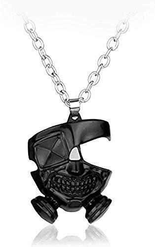niuziyanfa Co.,ltd Collar Kaneki Ken máscara Colgante Cosplay Collar para Hombres Cuero Cuerda Collar Colar para fanáticos Regalo