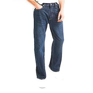GAP Men's Relaxed Fit Jeans, Medium Indigo Wash, Non-Stretch