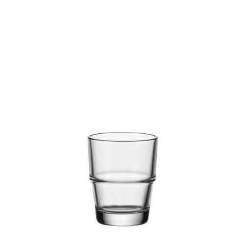 Leonardo Solo Espresso-Tasse, Espresso-Becher aus Glas, stapelbare Espresso-Gläser, 6er Set, 95 ml, 070406