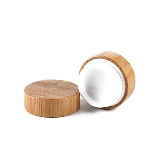 Un Paquete De Bambú Envase Cosmético De Maquillaje De Madera Pot Muestra...