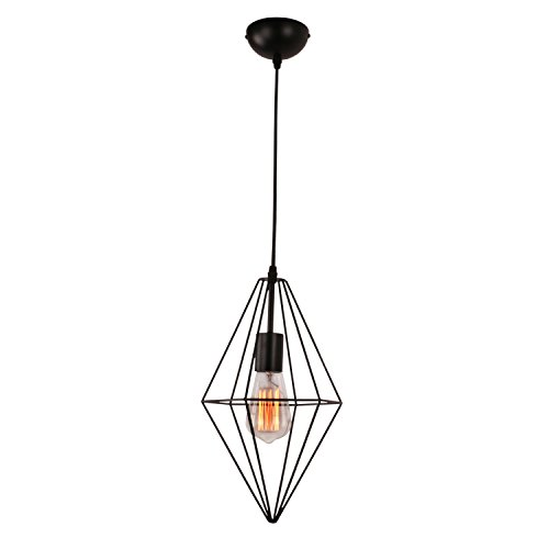 Unitary BRAND Simple Suspension Metal Lumière Peint Noir E27