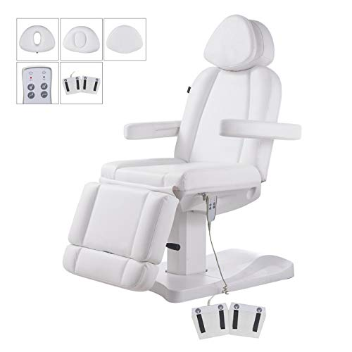 Facial Beauty Bed Medical Aesthetic Tattoo Procedure Bed With 2 Motor Electrical Adjustments - Ink-White