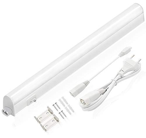 Lumare LED Unterbauleuchte 5W 400lm 4000K neutralweiß, 31,2cm, An/Aus-Schalter 130cm Anschluß-Kabel, erweiterbar, inkl. Montagezubehör Werkstattlampe Küchenleuchte Schrankleuchte Licht-Leiste