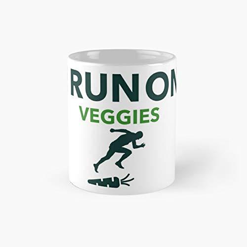 I Run On Veggies Classic Mug - 11 Ounce For Coffee, Tea, Chocolate Or Latte.