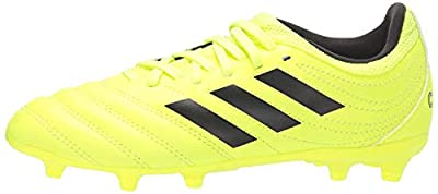 adidas Unisex-Kid's Copa 19.3 Firm Ground Soccer Shoe, Solar Yellow/Black/Solar Yellow, 12K M US Little Kid