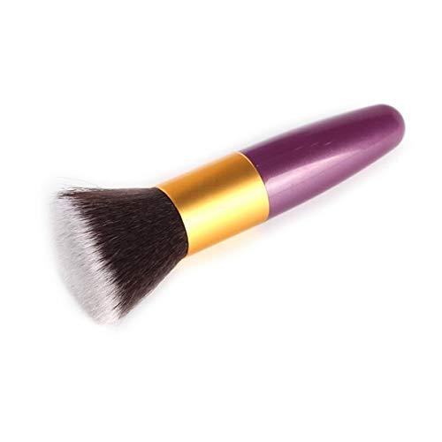 SDHF Maquillage plat professionnel Brosses Fond de teint poudre fard à joues brosse douce Correcteur Contour du visage pinceaux de maquillage outil, 1Pcs (Couleur : Noir, Size : One Size)