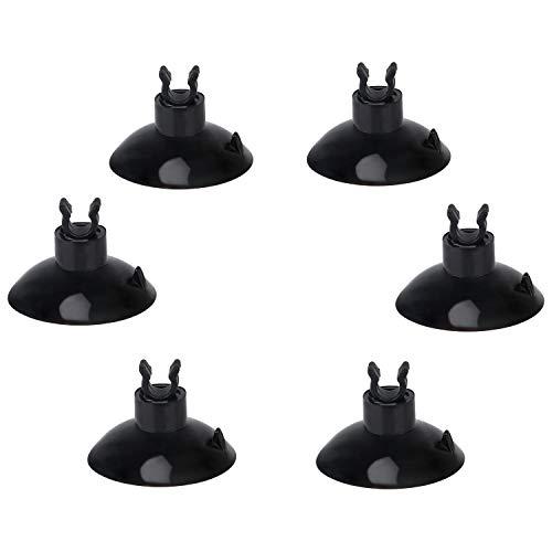 Uniclife 20-teilige schwarze Aquarium Saugnapf Clips 4-mm Luftschlauch Halter Schlauchschellen für Aquarium
