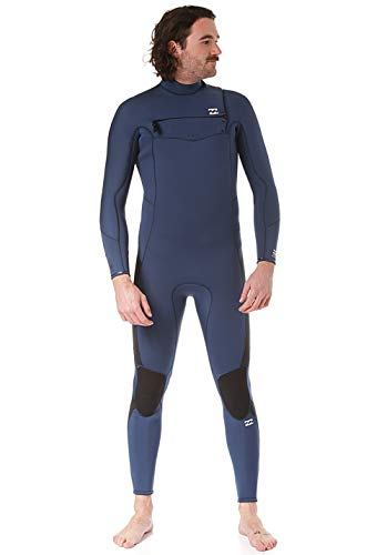 BILLABONG Mens Furnace Traje de Neopreno con Chest Zip Absolute 5/4mm - Azul índigo - Capas térmicas térmicas y cálidas Capas Forro del Furnace