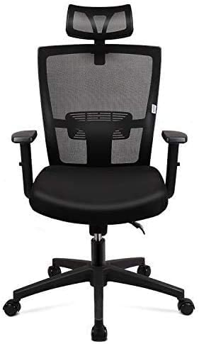 Mid Back Swivel Lumbar Support Max 44% OFF Ergonomic Cha Computer Desk Mesh Mesa Mall