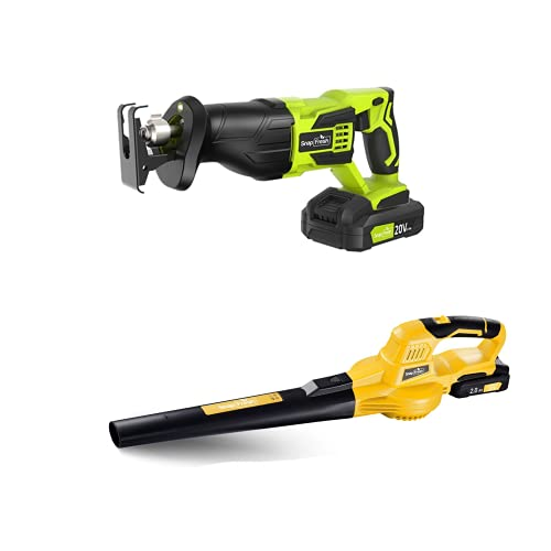 Cordless Reciprocating Saw With Cordless Leaf Blower