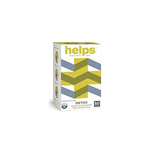 HELPS INFUSIES - Detox en diuretische infusie op basis van heermoes, groene thee, kruidencitroen, Ulmaria, rozemarijn en stevia. Debugger. Helps Detox. Doos met 16 zakjes.