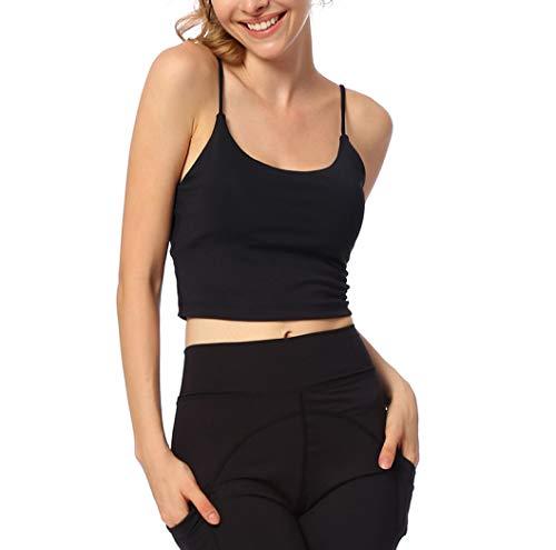 Femmes Sports Fit Dry Top Fitness Gym Pads Gilet Réservoir De Yoga Pas De Rim De Base Dos T-Shirts D'entraînement