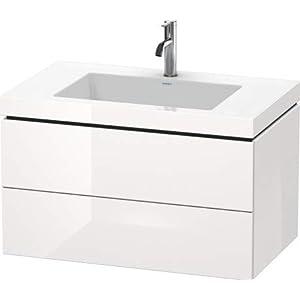 Lavabo para Muebles Duravit L-Cube c-Bonded con Base, Colgante, 80×48 cm, 2 cajones, sin rebosadero, 1 Agujero para…