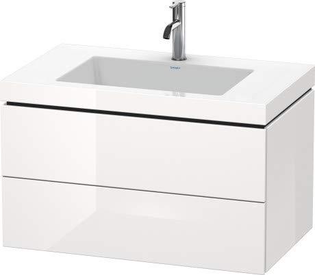 Duravit Duravit Waschtischunterbau L-CUBE mit Waschtisch Vero Air, 500 x 800 x 480 mm 3 Hahnlöcher jade hochglanz