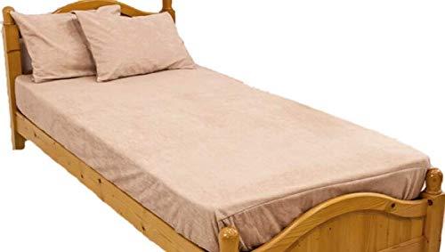 防水シーツ キングサイズ ボックスシーツ ロングパイル おねしょシーツ ロング綿パイルの防水BOXシーツ(180×200×30cm) モカ
