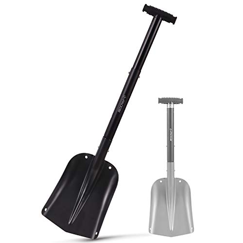 Read About REDCAMP Aluminum Lightweight Snow Shovel for Car Emergency, 21-32 Durable Compact Colla...