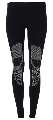 FASHION YOU WANT Leggings Skull aus Strasssteinen (schwarz, 40/42)