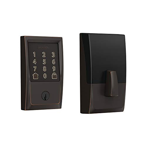 Schlage BE489WB CEN 716 Encode Deadbolt Smart Lock | WiFi Touchscreen Keypad, Aged Bronze