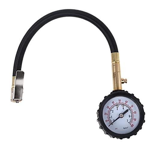 ZHFEN Rango 0-100PSI Neumático rápido Digital/Desviador de neumáticos Camiones de automóviles Medidor de presión de neumáticos Desvladores de Aire para vehículos de Carretera A27 21