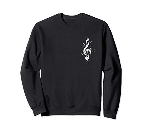 Treble clef, music, symbol, musical notes, sheet music Sweatshirt
