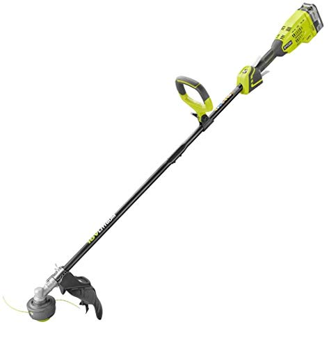 ONE+ 18-Volt Lithium-Ion Brushless Cordless String Trimmer - 4.0 Ah Battery and Charger Included P2090 (Renewed)