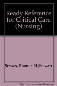 Paperback Ready Reference for Critical Care Book