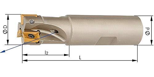 Schaftfräser 90G. m. IK. D 25mm Z 4 f.APKT10