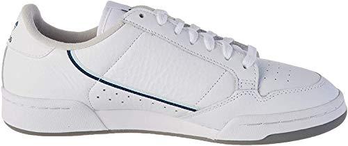 adidas Herren Continental 80 Gymnastikschuh, FTWR White Sky Tint Legend Marine, 42 2/3 EU