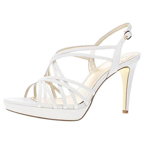 Adrianna Papell Womens Adri Leather Open Toe Formal Strappy Ivory