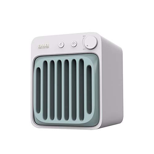 HSTD Refrigerador De Aire, Mini Refrigerador De Aire USB Personal, Humidificador, Purificador De Aire Y Ventilador De Refrigeración, Tanque De Agua De 650 Ml, con 7 Luces LED