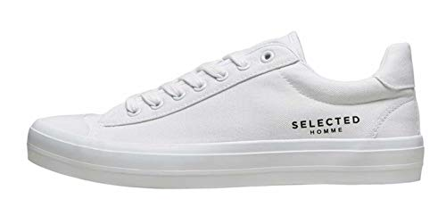 SELECTED HOMME Herren Sneakers Canvas 42Bright White