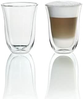 DeLonghi Double Walled Thermo Latte Glasses, Set of 2